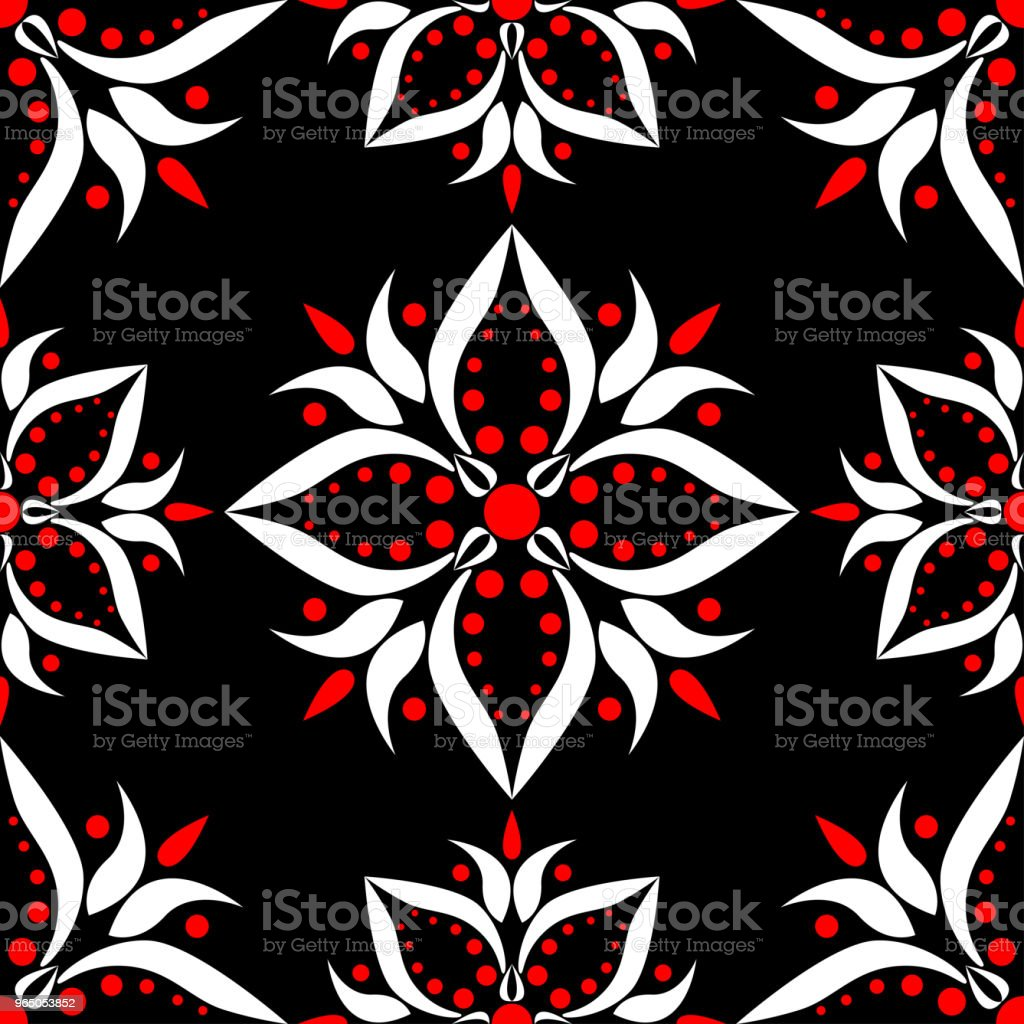 Black red and white floral seamless pattern. Wallpaper background royalty-free black red and white floral seamless pattern wallpaper background stock vector art & more images of abstract