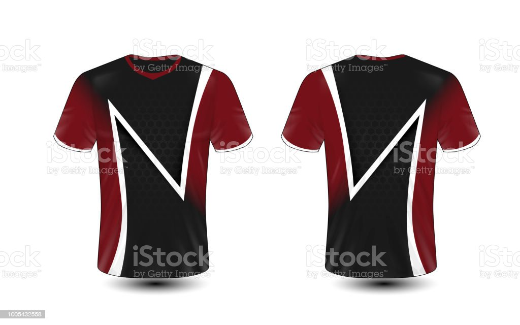 df696a4c0354 Black Red And White Layout Esport Tshirt Design Template Stock ...