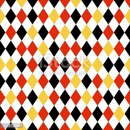 istock Black, Red, and Yellow Diamond Seamless Pattern 1015130952