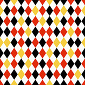 Black, Red, and Yellow Diamond Seamless Pattern