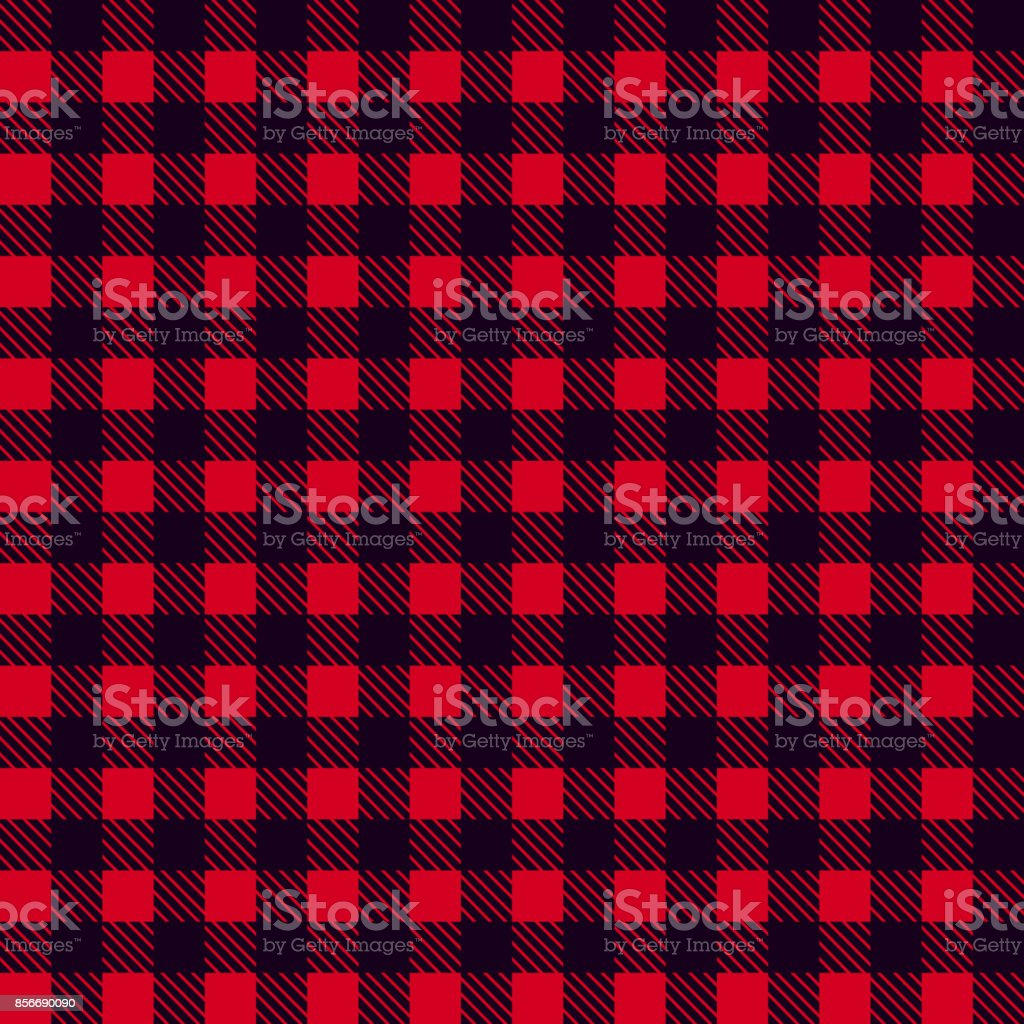Black Red seamless tablecloth Vector. Seamless traditional tablecloth pattern Vector. Pastel red color square pattern Vector. Geometrical simple square pattern. vector art illustration