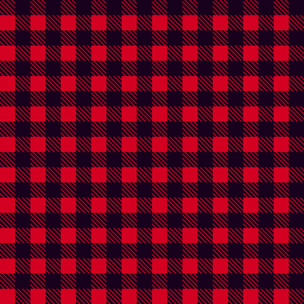 black red seamless tablecloth vector. seamless traditional tablecloth pattern vector. pastel red color square pattern vector. geometrical simple square pattern. - checked pattern stock illustrations