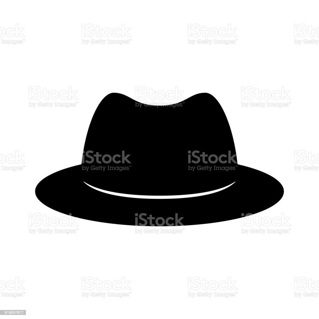 Ilustración de Sombrero Retro Negro Estilo De Caballero Mister ...