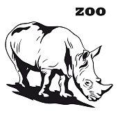 black rhino mascot