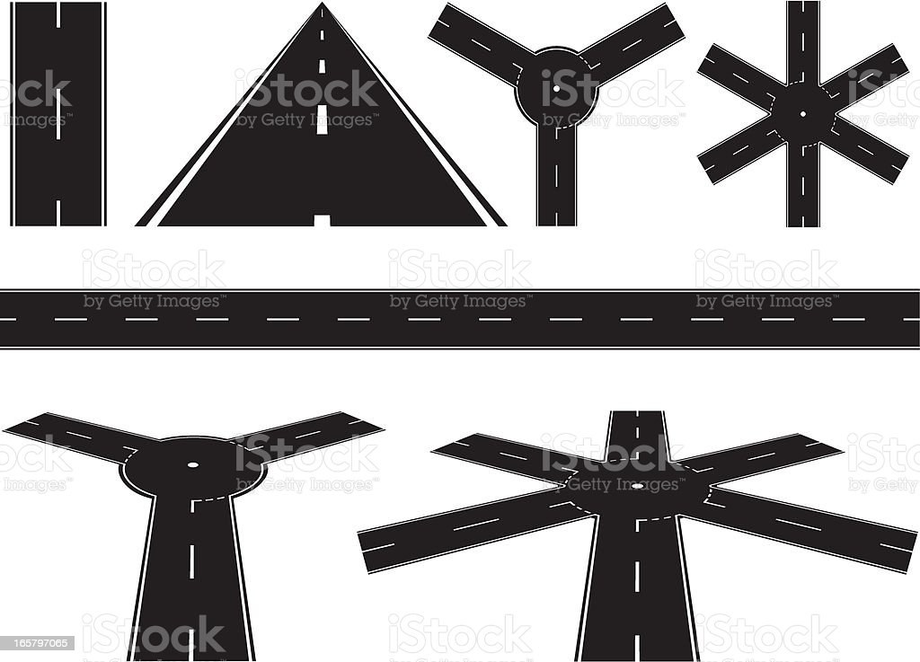 Black Road Sections royalty-free black road sections stock vector art & more images of black and white