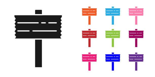 bildbanksillustrationer, clip art samt tecknat material och ikoner med svart vägtrafiksskylt. signpost-ikonen isolerad på vit bakgrund. pekarsymbol. gatuinformationsskylt. riktningsskylt. ställ ikoner färgglada. vektor - stock arrow