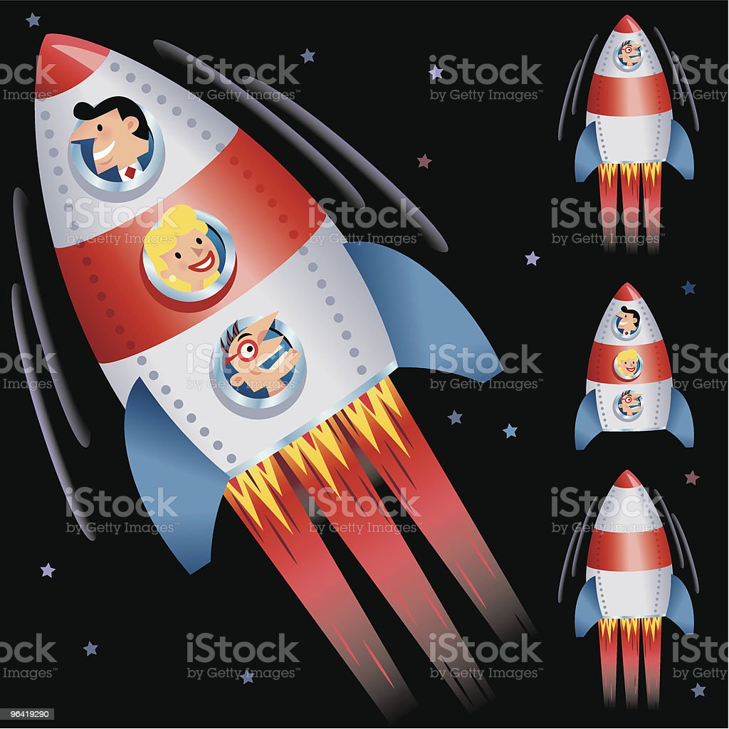Black Rocket Ride royalty-free stock vector art