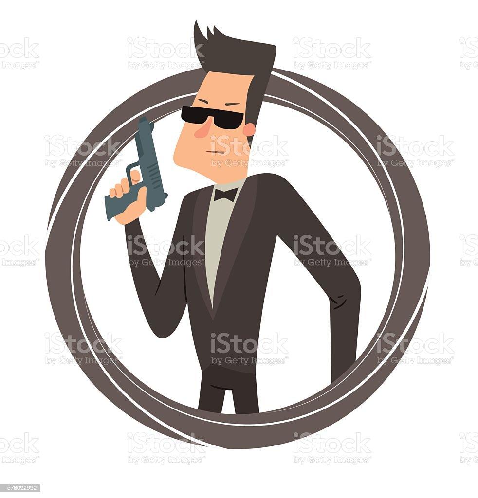 royalty free fbi agent clip art vector images illustrations istock rh istockphoto com secret agent clipart free secret agent clipart black and white