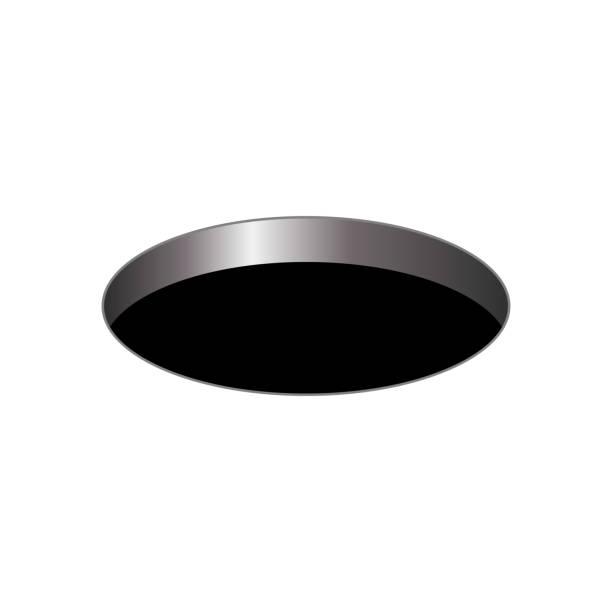 bildbanksillustrationer, clip art samt tecknat material och ikoner med svart runt hål - hål