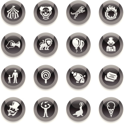 Black Round Icons - Circus
