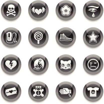 Black Round Icons -  Emo