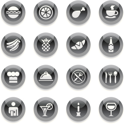 Black Round Icons - Restaurant