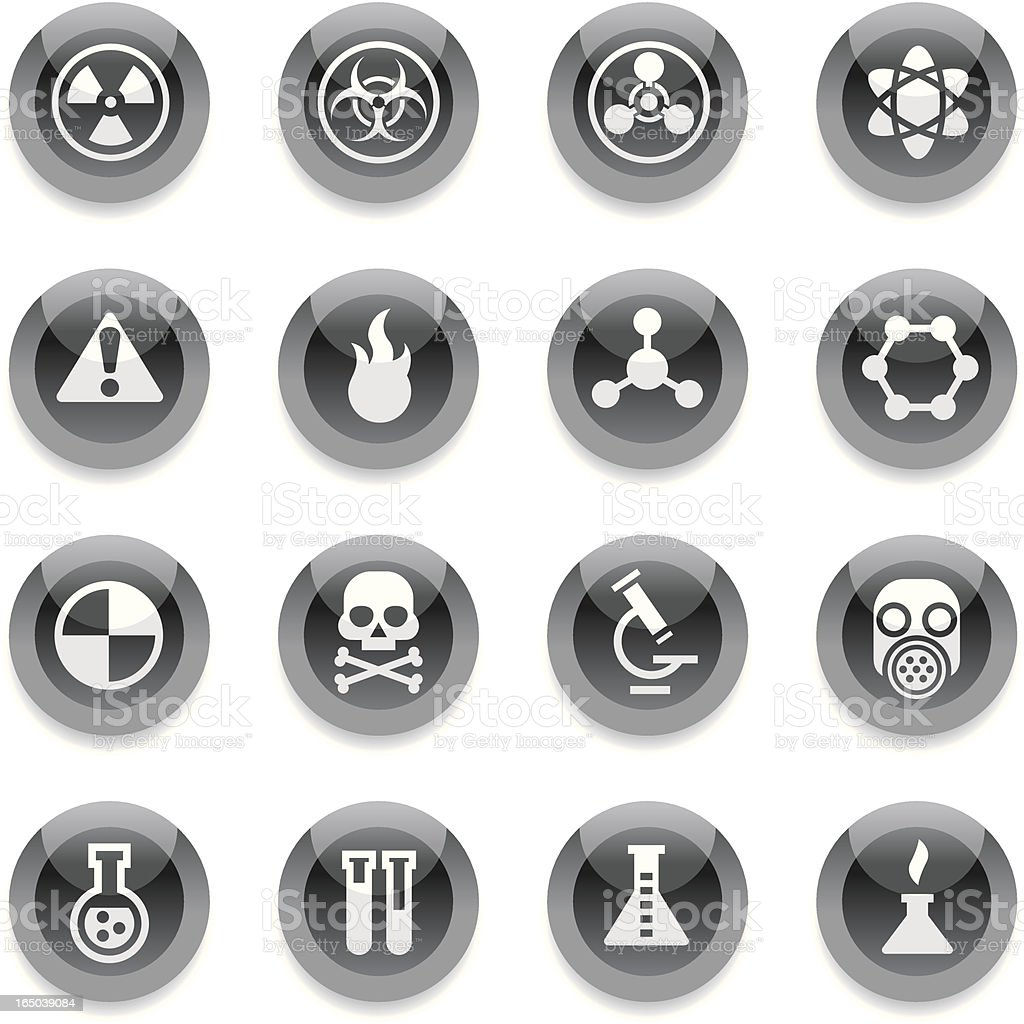 Black Round Icons - Science royalty-free stock vector art