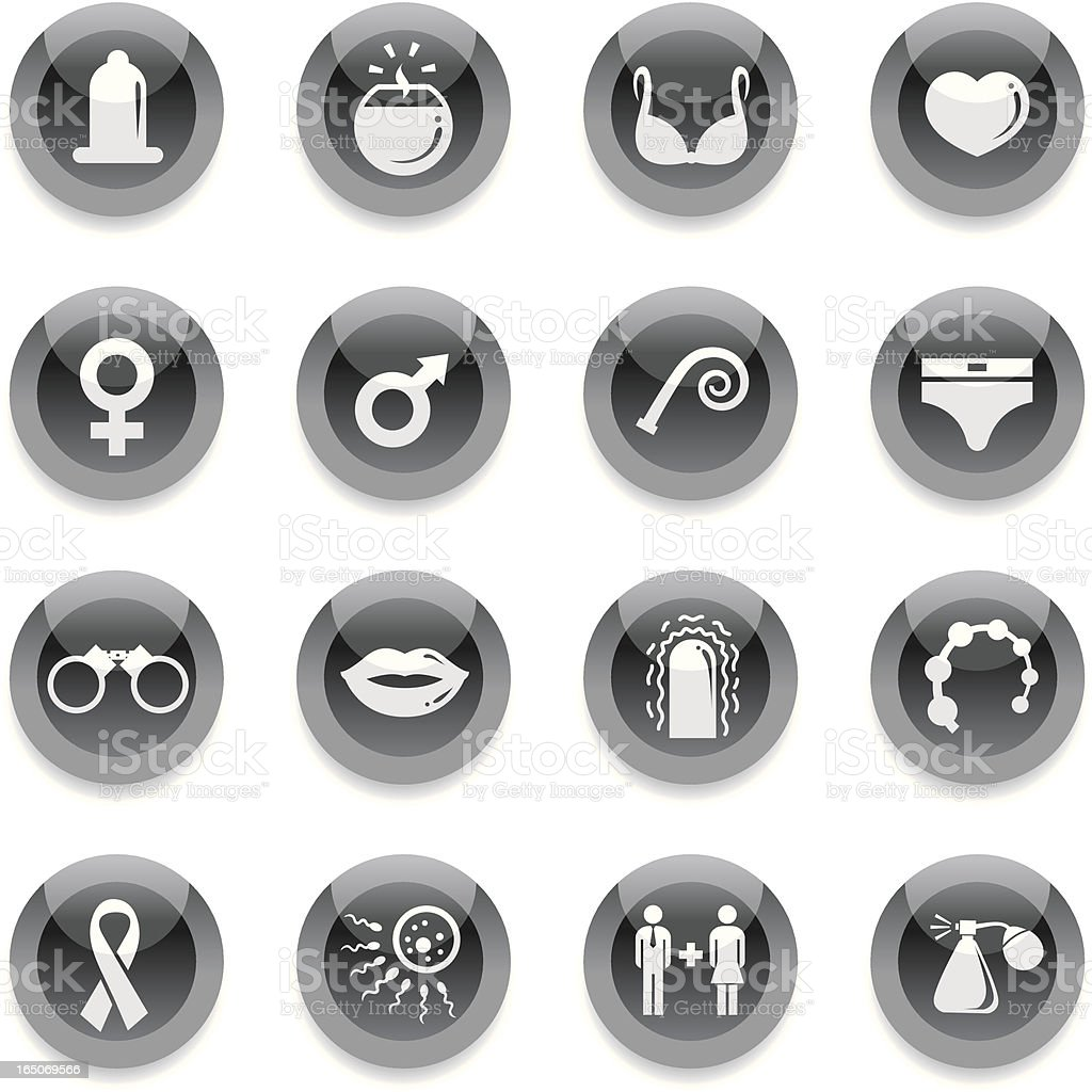 Black Round Icons - Sex royalty-free black round icons sex stock vector art & more images of aids