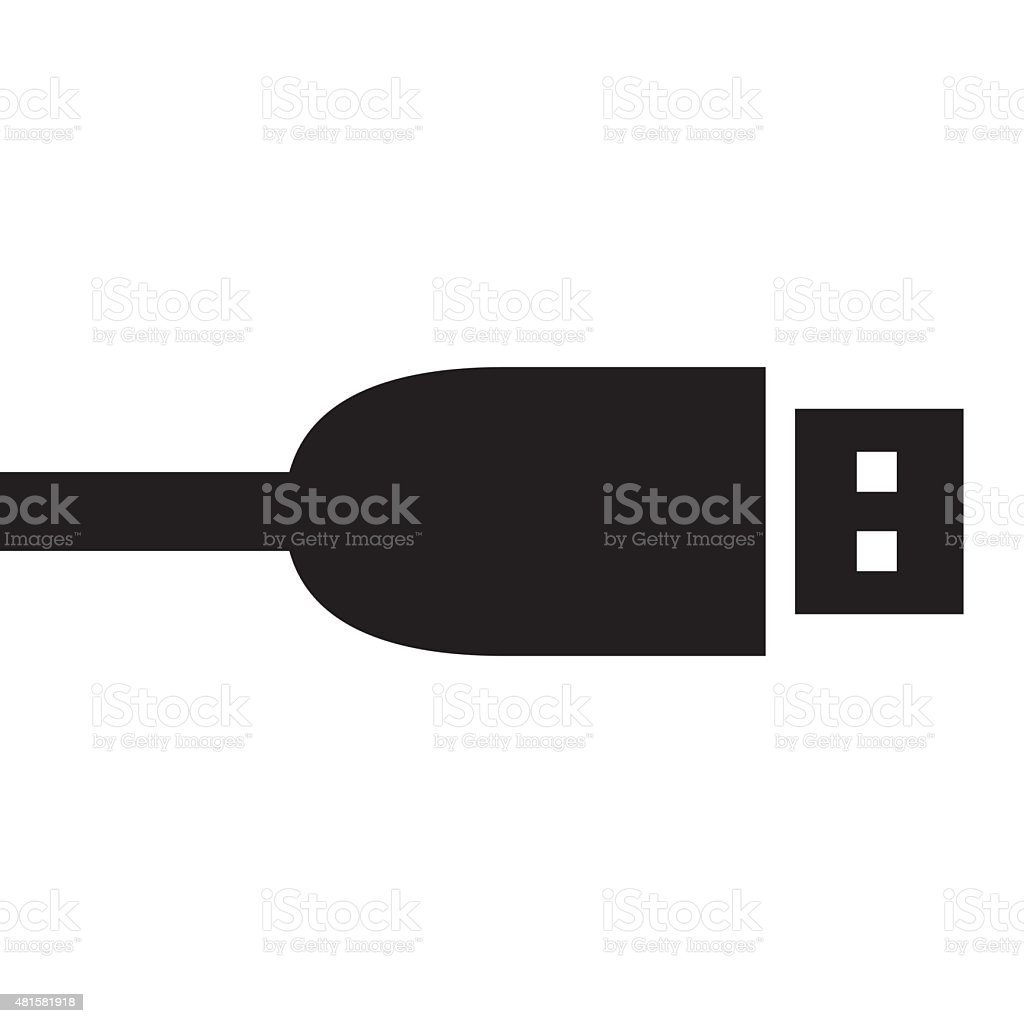 Black round usb cable plug symbol stock vector art more images black round usb cable plug symbol royalty free black round usb cable plug symbol stock biocorpaavc Images