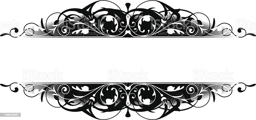 black scroll border stock vector art more images of abstract