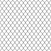 Black seamless chain link fence background.