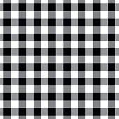 Black Seamless Tablecloth Pattern