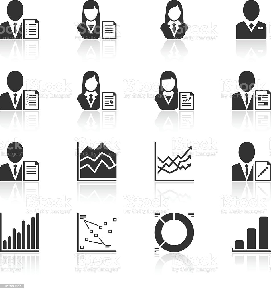 Black series of management reporting Icons royalty-free black series of management reporting icons stock vector art & more images of arrow symbol
