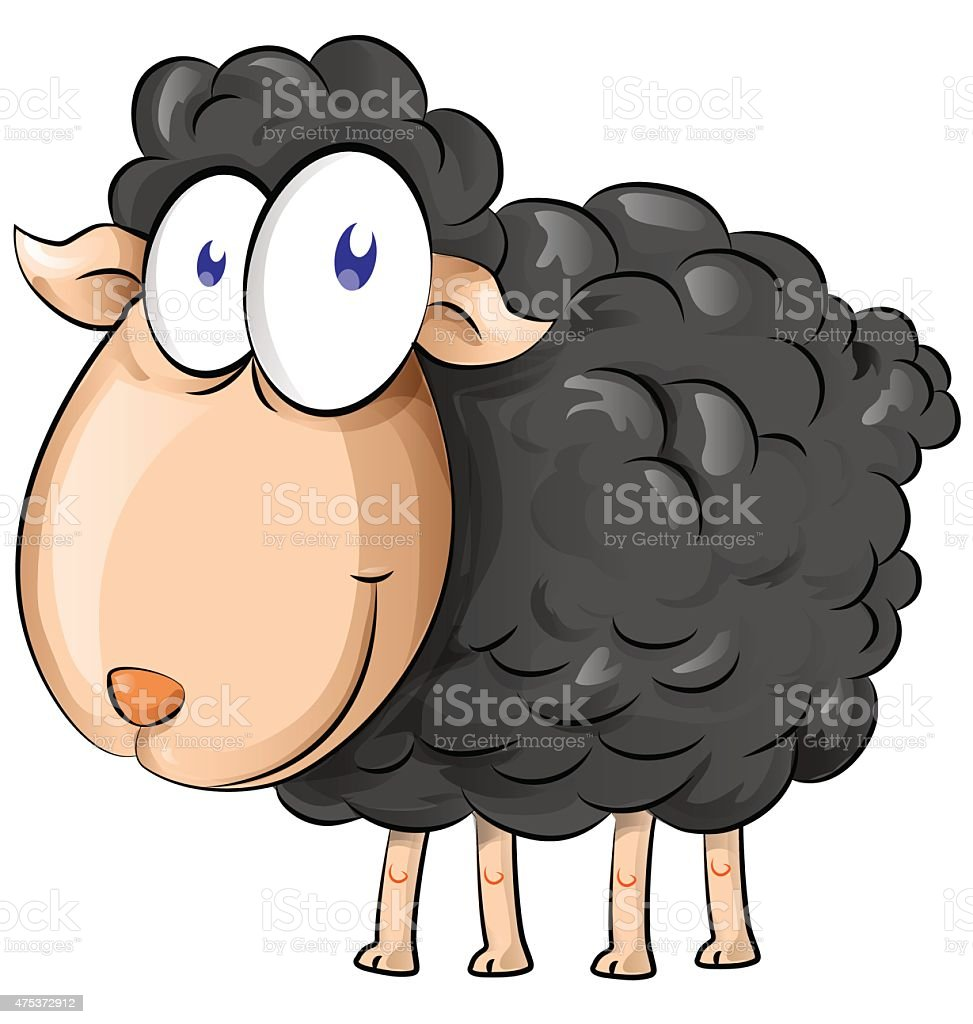 black sheep cartoon vector art illustration