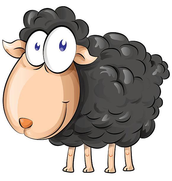 black sheep cartoon vector art illustration
