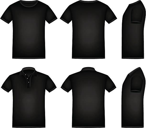stockillustraties, clipart, cartoons en iconen met black shirt - korte mouwen