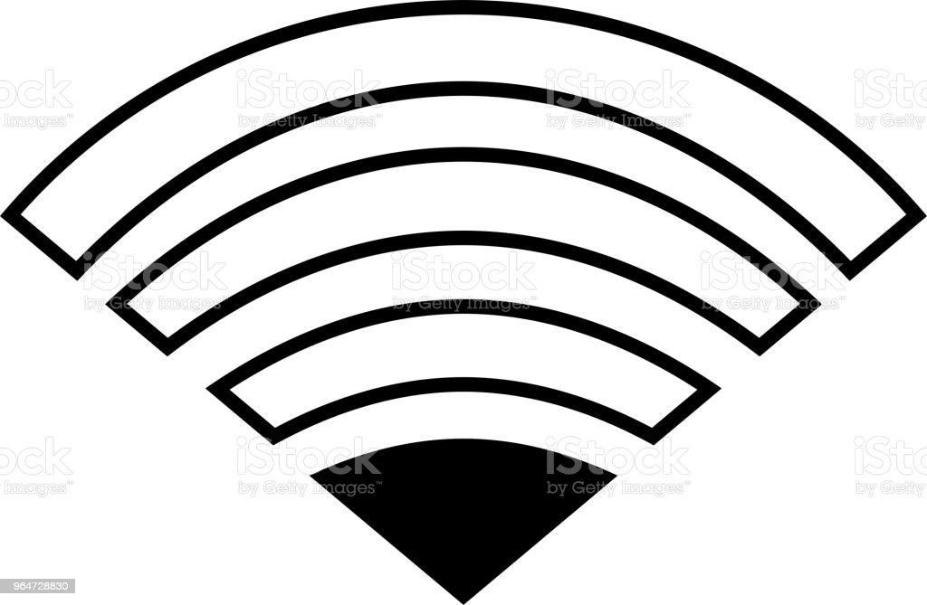 Black Signal icon of radio wave status 1 vector art illustration