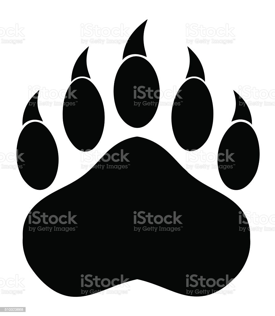 royalty free clip art of a bear paw clip art vector images rh istockphoto com bear paw clipart free bear paw clipart black and white