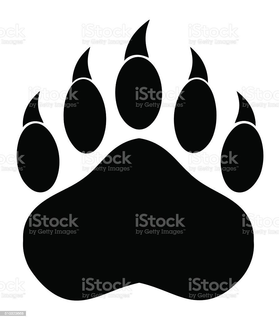 royalty free clip art of a bear paw clip art vector images rh istockphoto com bear paw clip art free bear paw border clipart