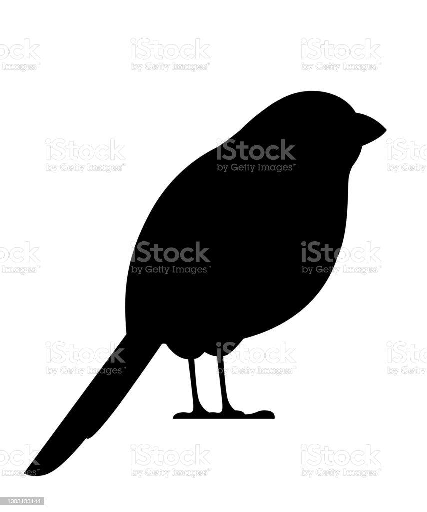 Silhouette Noire Oiseau Bouvreuil Création De Personnages De Dessin Animé Plane Icône De Loiseau Noir Bouvreuil Mignon Oiseau Robin Noël Illustration