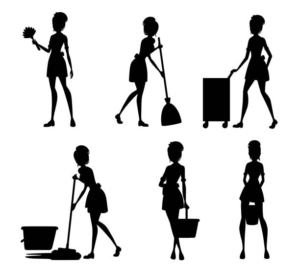 Cartoon French Maid Clipart Vector Collection - FriendlyStock