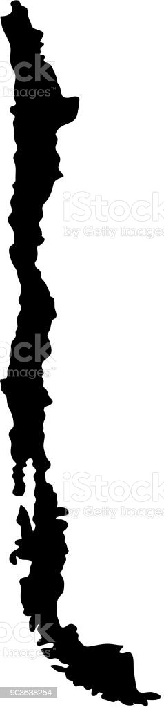 Black silhouette country borders map of chile on white background of black silhouette country borders map of chile on white background of vector illustration royalty free gumiabroncs Image collections