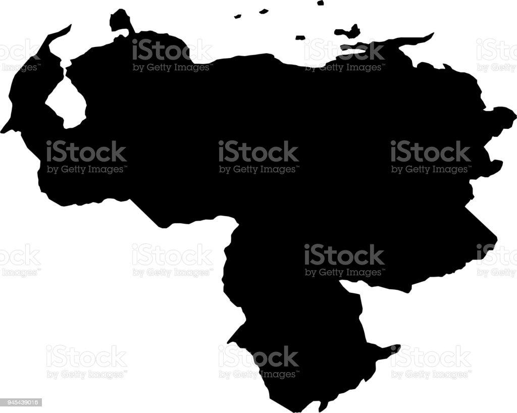 Ilustracin de mapa de fronteras pas silueta negra de venezuela mapa de fronteras pas silueta negra de venezuela sobre fondo blanco ilustracin vectorial ilustracin de gumiabroncs Choice Image