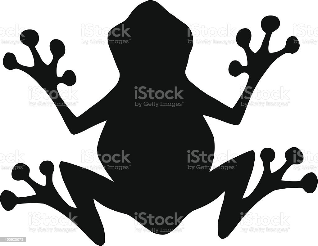 black silhouette frog stock vector art more images of amphibian rh istockphoto com