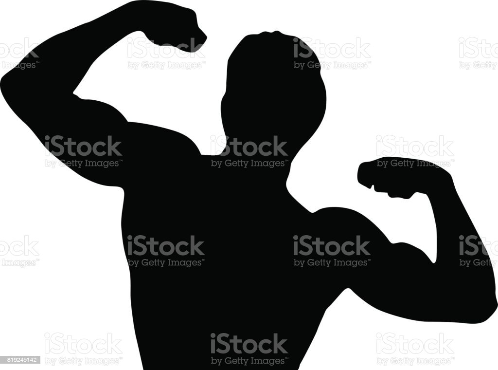 Black silhouette man vector art illustration