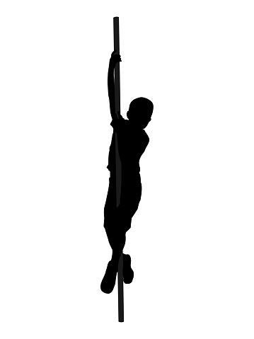 Black silhouette of a boy