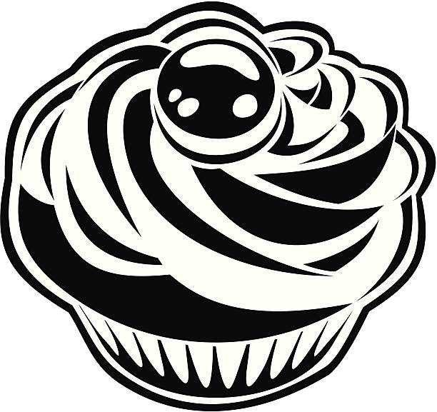 Royalty Free Cupcake Clipart Black And White Clip Art ...