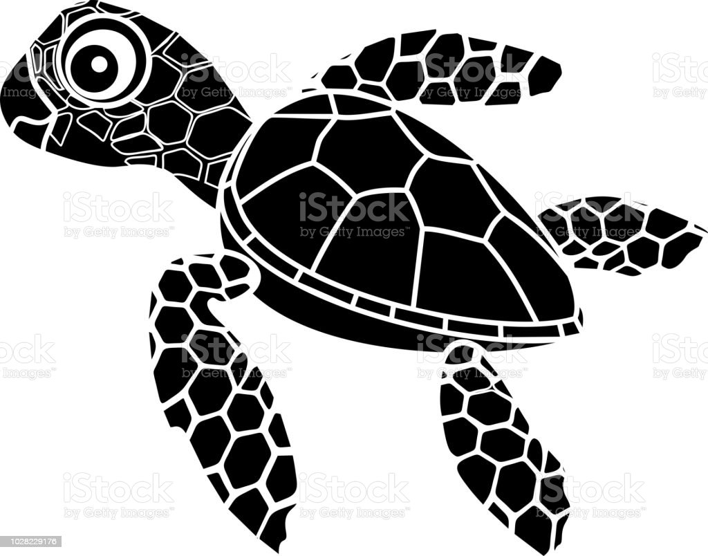 Ilustración De Silueta Negra De Hatchling Cute Dibujos Animados De
