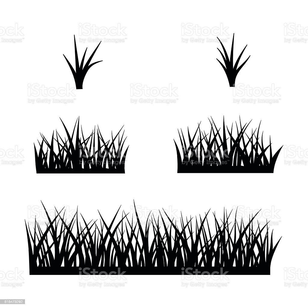 black silhouette of grass stock illustration download image now istock https www istockphoto com vector black silhouette of grass gm515473292 88536489