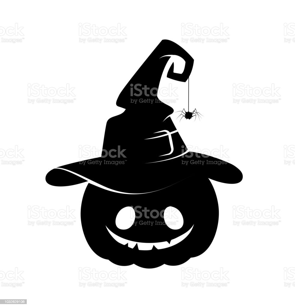Black Silhouette Of Halloween Pumpkin Stock Illustration Download Image Now Istock