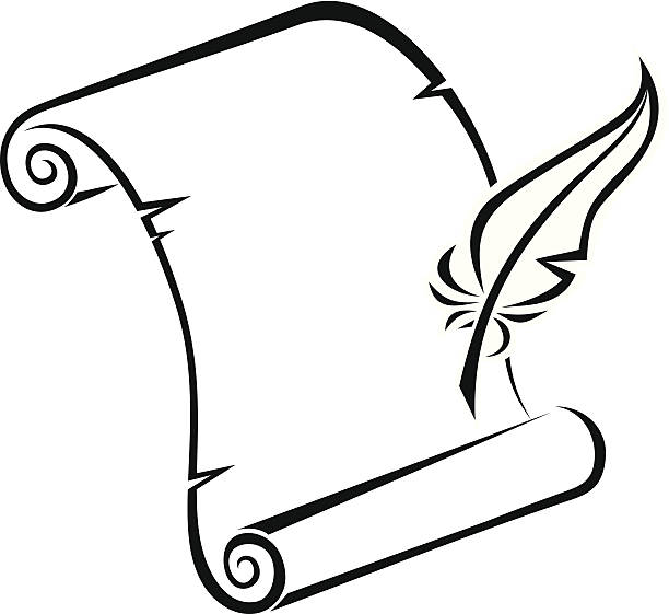 Royalty Free Medieval Scroll Letter Clip Art, Vector ...