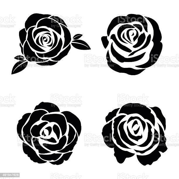Black silhouette of rose set vector id491947626?b=1&k=6&m=491947626&s=612x612&h=dh1jfuyb2 s3cx0oppgvu0fhwu t0dpfgzhu kfaece=