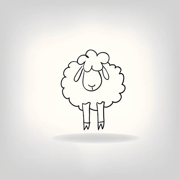 silhouette noire de moutons - Illustration vectorielle