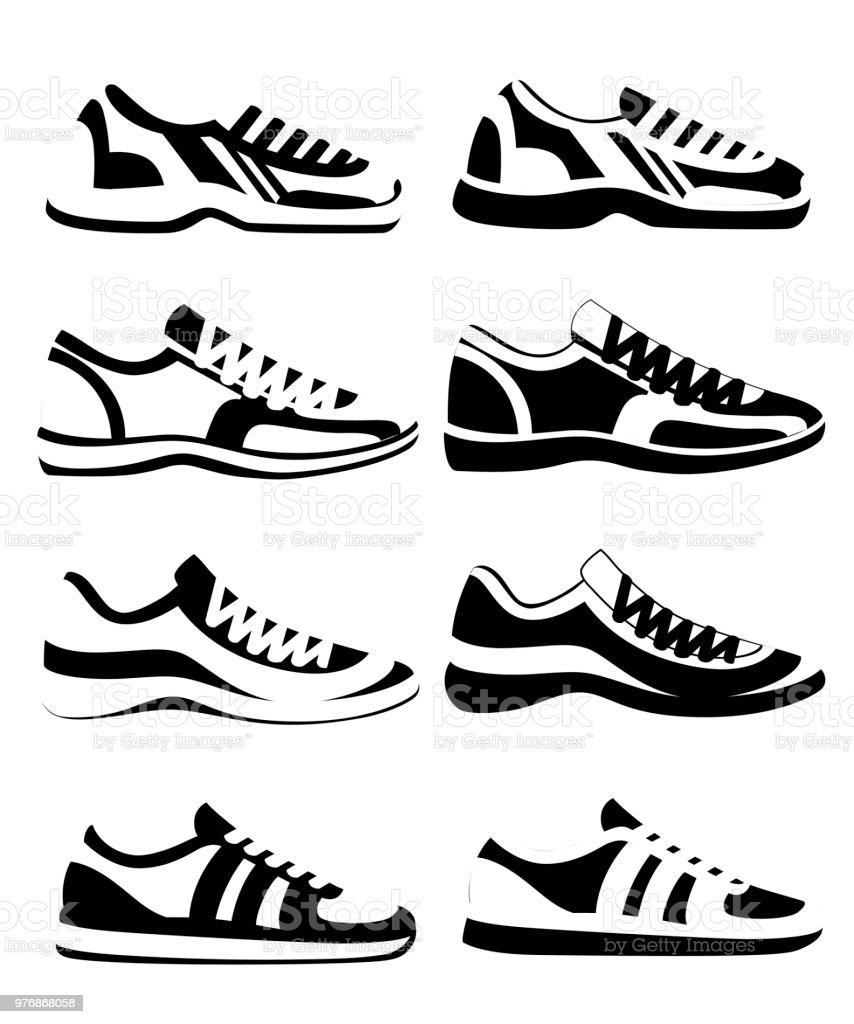 promo code a8672 ae09a Schwarze Silhouette Sneaker Schuh Sportliche Sneakers ...