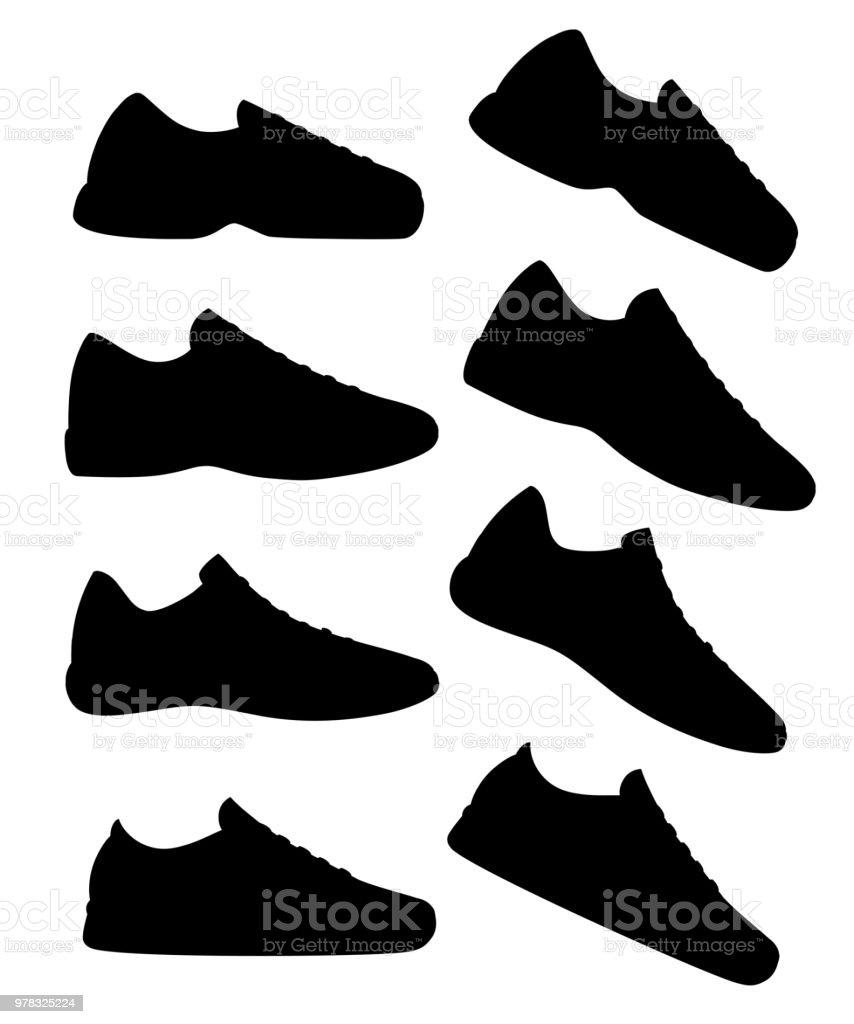 Silhouette Chaussure Sport Chaussures Noire Sneaker De Athlétiques uZwiTlOPkX