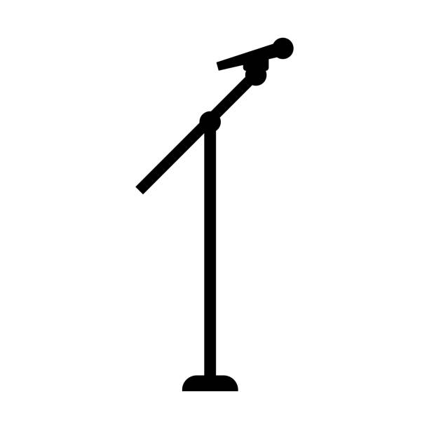 Best Mic Stand Illustrations, Royalty-Free Vector Graphics ...