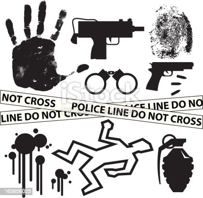 istock Black Silhouettes - FBI 165656025
