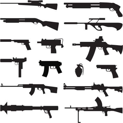 Black Silhouettes - Guns