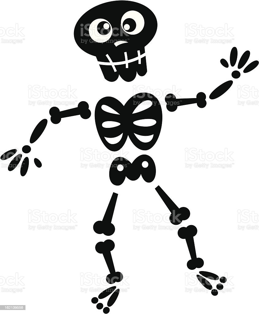 Black skeleton silhouette isolated on white royalty-free black skeleton silhouette isolated on white stock vector art & more images of activity
