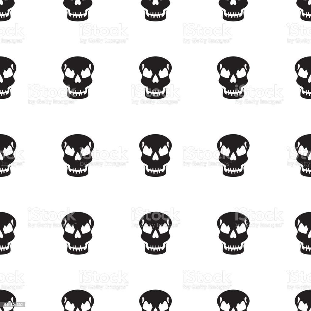 Black skulls seamless pattern royalty-free black skulls seamless pattern stock vector art & more images of abstract